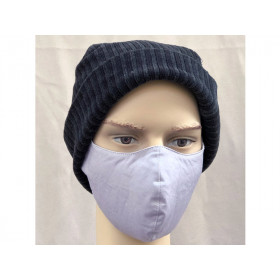 Hickups Fabric Mask ADULTS MALE light grey