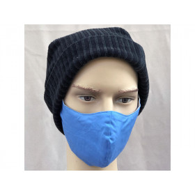 Hickups Fabric Mask ADULTS MALE cobalt blue