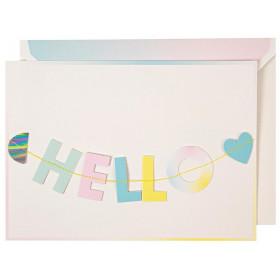 Meri Meri Garland Card HELLO LITTLE ONE