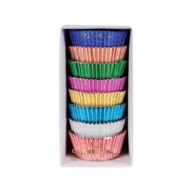 Meri Meri 100 Cupcake Cases METALLIC