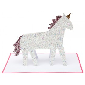 Meri Meri Stand-Up Card GLITTER UNICORN