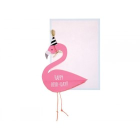 Meri Meri Honeycomb Card FLAMINGO