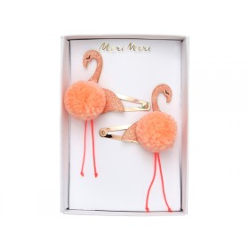 Meri Meri Hair Clips FLAMINGO