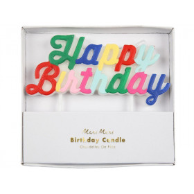 Meri Meri Candle HAPPY BIRTHDAY