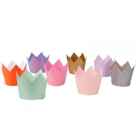 Meri Meri 8 Party Glitter CROWNS