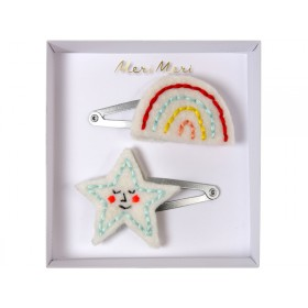 Meri Meri Hair Clips Rainbow & Star
