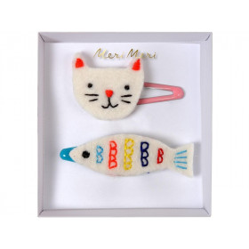 Meri Meri Hair Clips CAT & FISH
