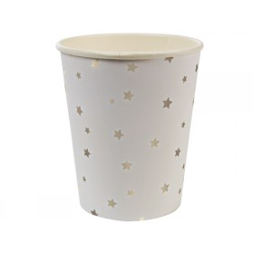 Meri Meri Party Cups Stars silver