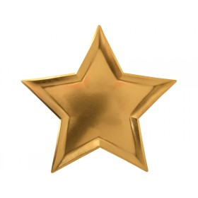 Meri Meri Large Party Plates Stars gold