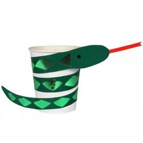 Meri Meri 8 Party Cups SNAKE