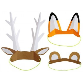 Meri Meri 8 Paper Ears ANIMALS