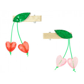 Meri Meri 2 Hair Clips CHERRY BEADS