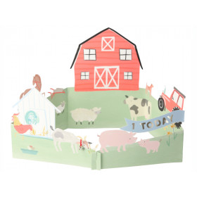 Meri Meri 3D Card ON THE FARM 1st Birthday