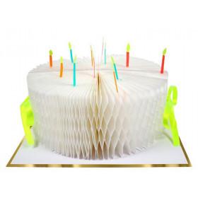 Meri Meri 3D Honeycomb Card BIRTHDAY CAKE