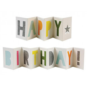 Meri Meri 3D Card BIRTHDAY BANNER