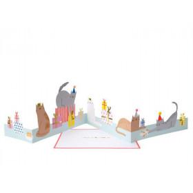 Meri Meri 3D Birthday Card CAT PARTY