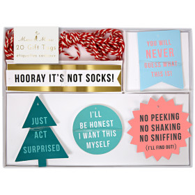 Meri Meri 20 Holiday Gift Tags FESTIVE