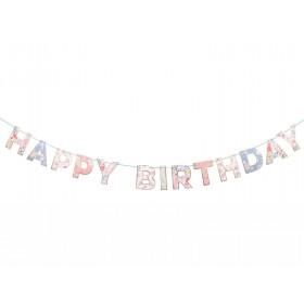 Meri Meri Garland Happy Birthday ENGLISH GARDEN