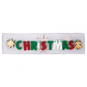 Meri Meri Mini Garland MERRY CHRISTMAS multicolored
