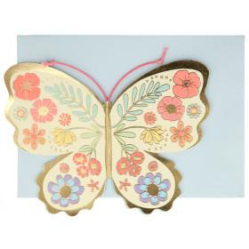 Meri Meri Birthday Card BUTTERFLY & FLOWERS
