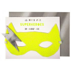 Meri Meri Birthday Card SUPERHERO Boy