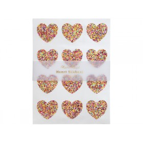 Meri Meri 120 Glitter Stickers HEARTS