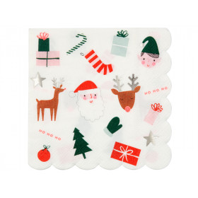 Meri Meri Small Napkins CHRISTMAS ICONS
