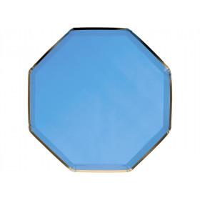 Meri Meri 8 Party Plates BRIGHT BLUE