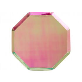 Meri Meri 8 Party Plates IRIDESCENT PINK