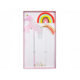 Meri Meri Cake Topper UNICORN & RAINBOW