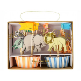 Meri Meri 24 Cupcake Set SAFARI ANIMAL
