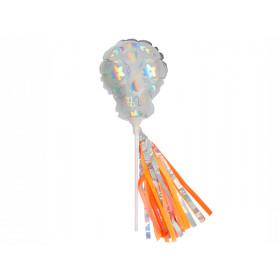 Meri Meri 6 Mini Foil Balloons SUGAR SKULL