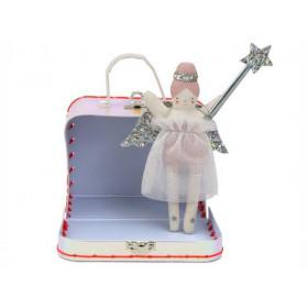 Meri Meri Mini Doll in Suitcase ANGEL Evie