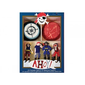 Meri Meri Cupcake Set Ahoy Pirates