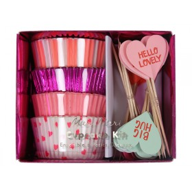 Meri Meri Cupcake Set Hearts Valentine