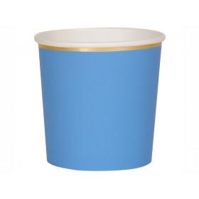 Meri Meri 8 Tumbler Party Cups BRIGHT BLUE