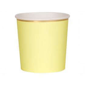 Meri Meri 8 Tumbler Party Cups PALE YELLOW