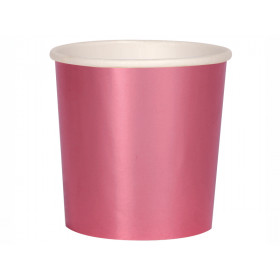 Meri Meri 8 Tumbler Party Cups METALLIC PINK