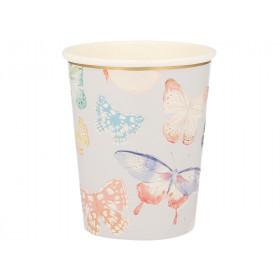 Meri Meri 8 Party Cups BUTTERFLY