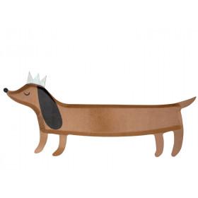 Meri Meri 4 Giant Party Plates SAUSAGE DOG