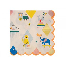 Meri Meri Large Party Napkins Silly Circus