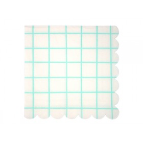 Meri Meri Large Napkin GRID mint