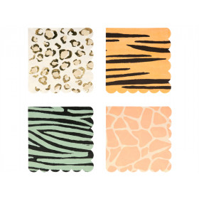 Meri Meri 16 Large Napkins SAFARI ANIMAL
