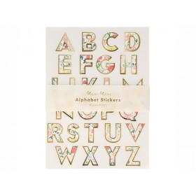 Meri Meri 260 Alphabet Stickers ENGLISH GARDEN