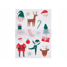 Meri Meri 160 Glitter Stickers CHRISTMAS ICONS