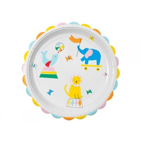 Meri Meri Party Plates large Silly Circus