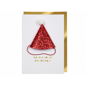 Meri Meri Christmas Card SANTA HAT