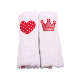 Minene cute muslin squares heart crown