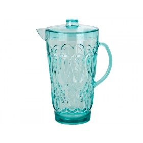 RICE jug in swirly embossed mint acrylic