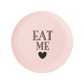 Miss Étoile bamboo melamine side plate Eat me rose